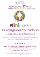 Mini concert Le voyage des troubadours