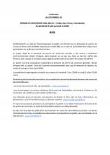 URBANISME : AVIS DE MISE A DISPOSITION DU PUBLIC