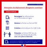 [CORONAVIRUS - #COVID19] ATTESTATION DE DÉPLACEMENT EN FORMAT NUMÉRIQUE