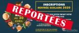 [CORONAVIRUS - SCOLARITÉ] REPORT DES INSCRIPTIONS RENTRÉE SCOLAIRE 2020