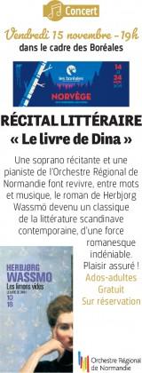 Concert : Récital littéraire